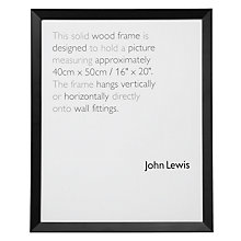 "Buy John Lewis Photo Frames, Black, 16 x 20"" (40 x 50cm) Online at johnlewis.com"