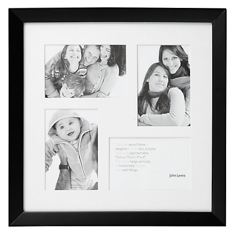 Buy John Lewis Photo Frame, Black, 4 Aperture Online at johnlewis.com