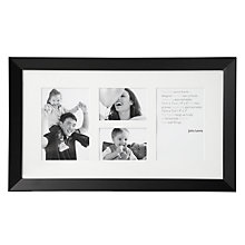 "Buy John Lewis Multi-aperture Wall Frame, Black, 4 Photo, 3 x 4"" (8 x 10cm) and 4 x 6"" (10 x 15cm) Online at johnlewis.com"