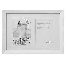 "Buy John Lewis Wall Multi-aperture Frame, White, 2 Photo, 5 x 7"" (13 x 18cm) Online at johnlewis.com"