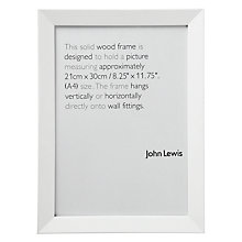 Buy John Lewis Wall Photo Frame, White, A4 (21 x 30cm) Online at johnlewis.com