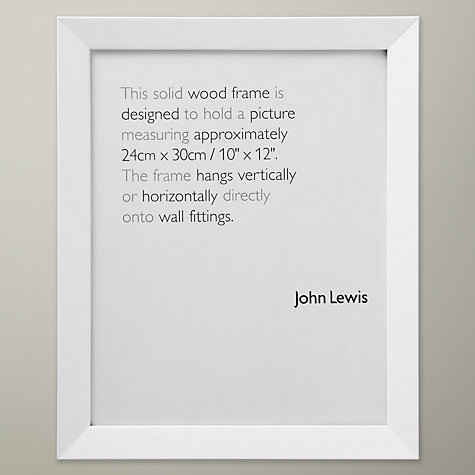 "Buy John Lewis Wall Photo Frame, White, 10 x 12"" (24 x 30cm) Online at johnlewis.com"