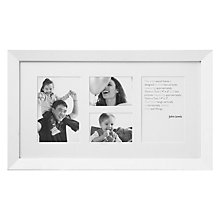 "Buy John Lewis Wall Multi-aperture Frame, White, 4 Photo, 4 x 6"" (10 x 15cm) and 3 x 4"" (8 x 10cm) Online at johnlewis.com"