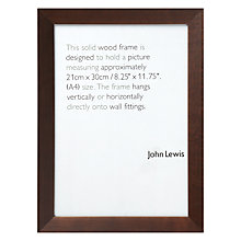 Buy John Lewis Photo Frame, Chocolate, A4 Online at johnlewis.com
