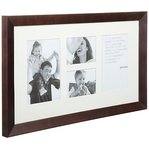 Buy John Lewis Photo Frame, Chocolate, 4 Aperture (22 x 40cm) Online at johnlewis.com