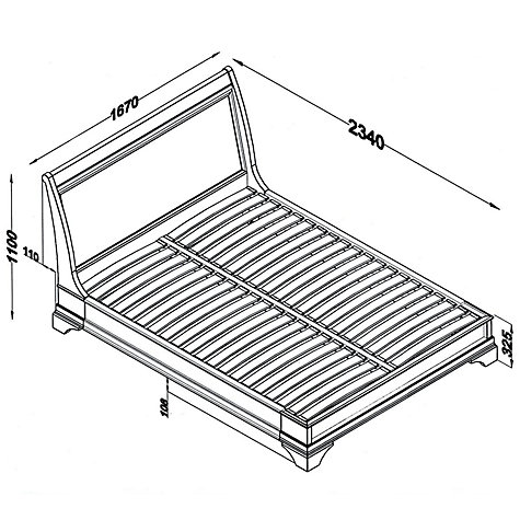 Buy John Lewis Aurelia Low End Bedstead, Kingsize Online at johnlewis.com