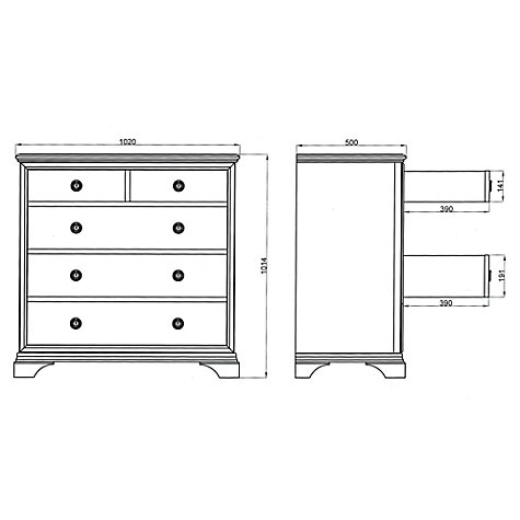 Buy John Lewis Aurelia 3+2 Drawer Chest Online at johnlewis.com