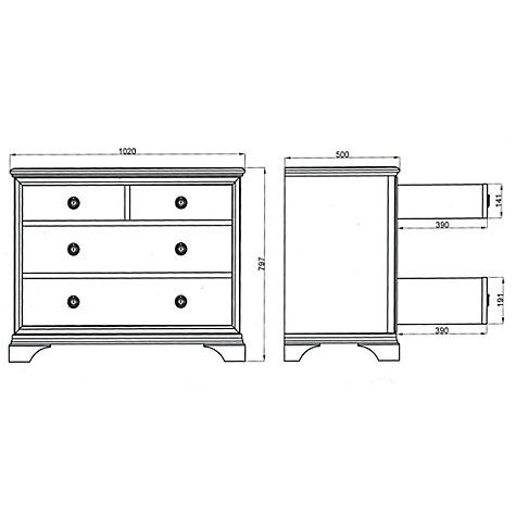 Buy John Lewis Aurelia 2+2 Drawer Chest Online at johnlewis.com