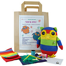 Buy Sock Creatures Sock Owl Kit Online at johnlewis.com