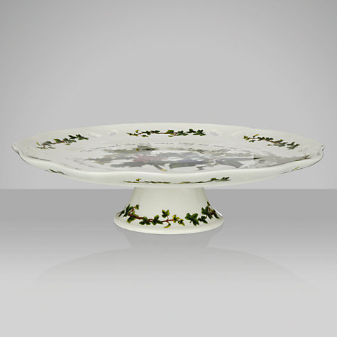 Buy Portmeirion The Holly and The Ivy Footed Cake Plate Online at johnlewis.com