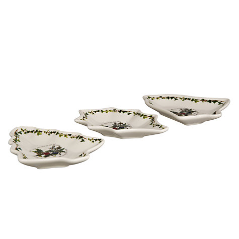 Buy Portmeirion The Holly and The Ivy Christmas Dishes, Set of 3 Online at johnlewis.com