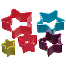 Buy ColourWorks Star Cookie Cutters, Set of 5 Online at johnlewis.com