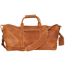 Buy John Lewis Leather Holdall, Natural Tan Online at johnlewis.com