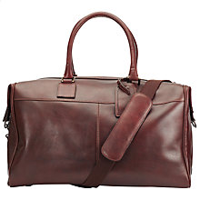 Buy John Lewis Gladstone Leather Holdall, Tan Online at johnlewis.com