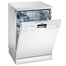 Buy Siemens SN25M231GB Freestanding Dishwasher, White Online at johnlewis.com