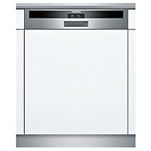 Buy Siemens SN56T592GB Semi-Integrated Dishwasher, Stainless Steel Online at johnlewis.com