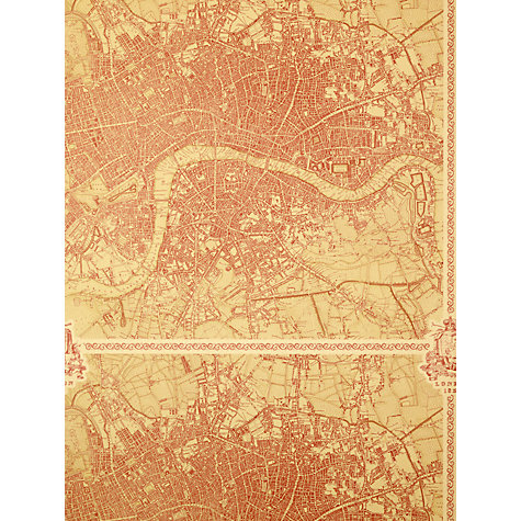 Buy Zoffany London Wallpaper, Red, 310078 Online at johnlewis.com