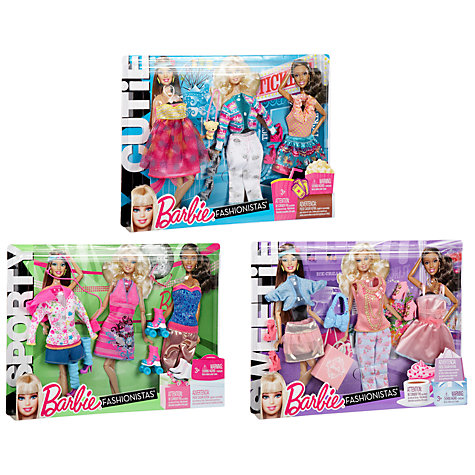 Buy Barbie Fashionistas Clothes Sets, Assorted Online at johnlewis.com