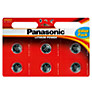 Panasonic CR-2025L/6BP Lithium Coin Batteries, Pack of 6