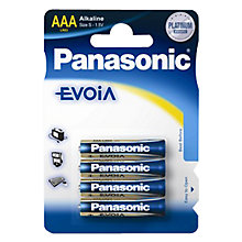 Buy Panasonic Evolta LR03EGE AAA Batteries, Pack of 4 Online at johnlewis.com