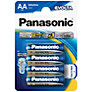 Panasonic Evolta LR6EGE/4BP AA Alkaline Batteries, 4 pack