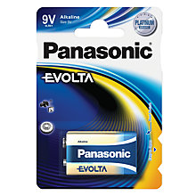 Buy Panasonic EVOLTA 6LR61EGE/1BP 9 Volt Alkaline Battery Online at johnlewis.com