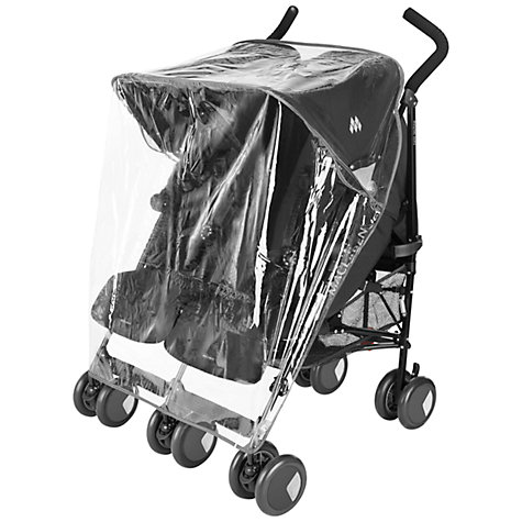 Buy Maclaren Twin Triumph and Maclaren Twin Techno Raincover Online at johnlewis.com