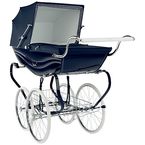 Buy Silver Cross Balmoral Pram, Navy Gloss Online at johnlewis.com