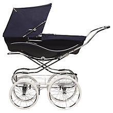 Buy Silver Cross Kensington Pram, Navy Online at johnlewis.com
