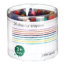 Buy John Lewis Chunky Crayons, Pack of 24 Online at johnlewis.com
