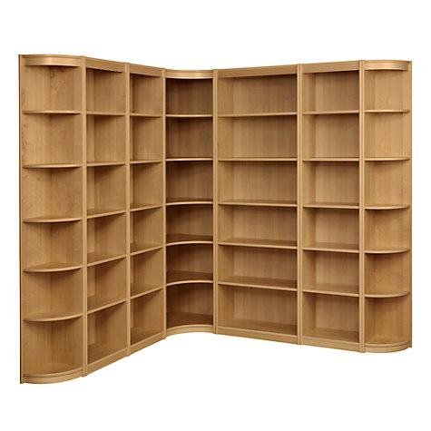 Buy John Lewis Agatha L-Shaped Bookcase Combination, Oak Online at ...