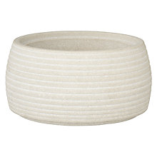 Buy John Lewis Mint Sandstone Bathroom Jar, Cream Online at johnlewis.com