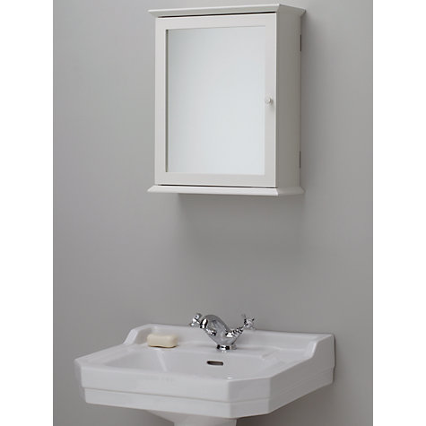 Buy john lewis st ives single mirrored bathroom cabinet for Bathroom storage ideas john lewis