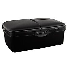 Buy Sistema Slimline Quaddie Lunch Box with Bottle, Black Online at johnlewis.com