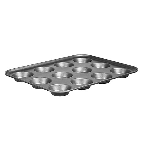 Buy John Lewis Professional Nonstick 12 Cup Deep Bun Tray Online at johnlewis.com
