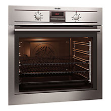 Buy AEG BE3002001M Built-In Single Electric Oven, Stainless Steel Online at johnlewis.com