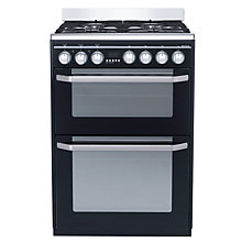 Buy John Lewis JLFSMC609 Dual Fuel Cooker, Black Online at johnlewis.com