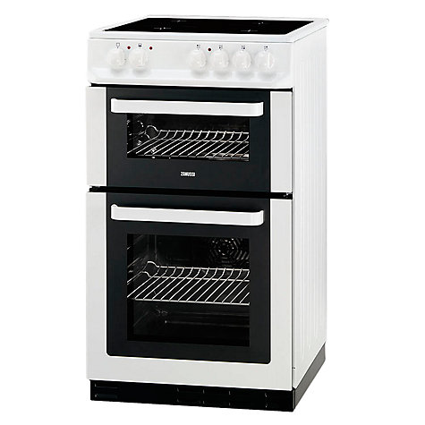 Buy Zanussi ZCV561DW Electric Cooker, White Online at johnlewis.com