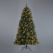 "Buy John Lewis Prelit LED Pine Christmas Tree, Blue Pine, 6ft 5"" Online at johnlewis.com"