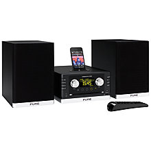Buy Pure Sirocco 550 Wi-Fi DAB Micro System/iPod Dock, Black Online at johnlewis.com