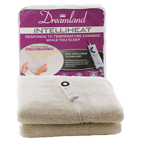 Buy Dreamland 6965 Intelliheat Electric Fleece Mattress Cover, Single Online at johnlewis.com