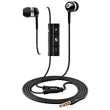 Buy Sennheiser MM70i In-Ear Headphones, Black Online at johnlewis.com
