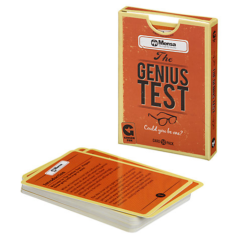 Buy Mensa Genius Test Cards Online at johnlewis.com