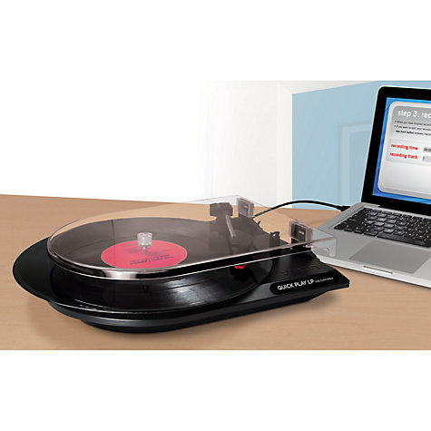 Buy ION Quick Play LP Converter Turntable to MP3 Player Online at johnlewis.com