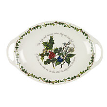 Buy Portmeirion The Holly and The Ivy Oval Platter Online at johnlewis.com