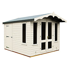 Buy Crane 3 x 2.5m Storage Chalet, Door on Left, FSC-certified (Scandinavian Redwood) Online at johnlewis.com