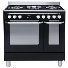 Buy John Lewis JLRC905 Dual Fuel Range Cooker, Black Online at johnlewis.com