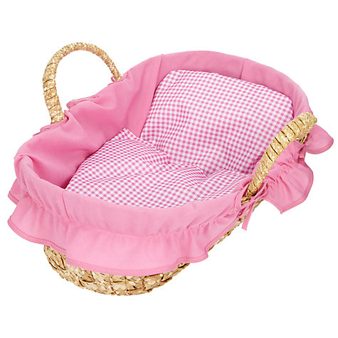 Buy John Lewis Doll's Moses Basket Online at johnlewis.com
