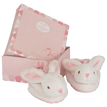 Buy Doudou et Compagnie Rabbit Booties Gift Box, Pink Online at johnlewis.com
