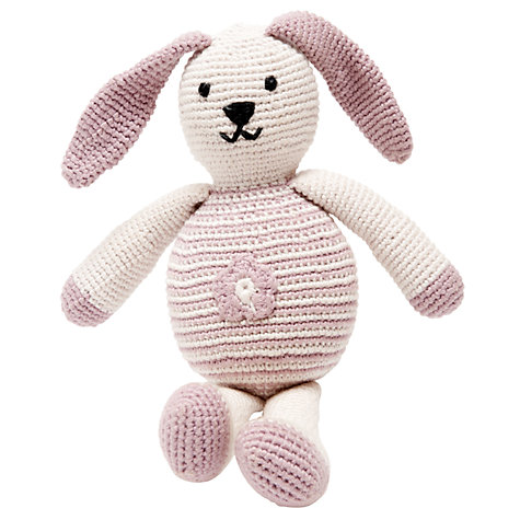 Buy Pebble Fair Trade Organic Cotton Bunny, Pink Online at johnlewis.com